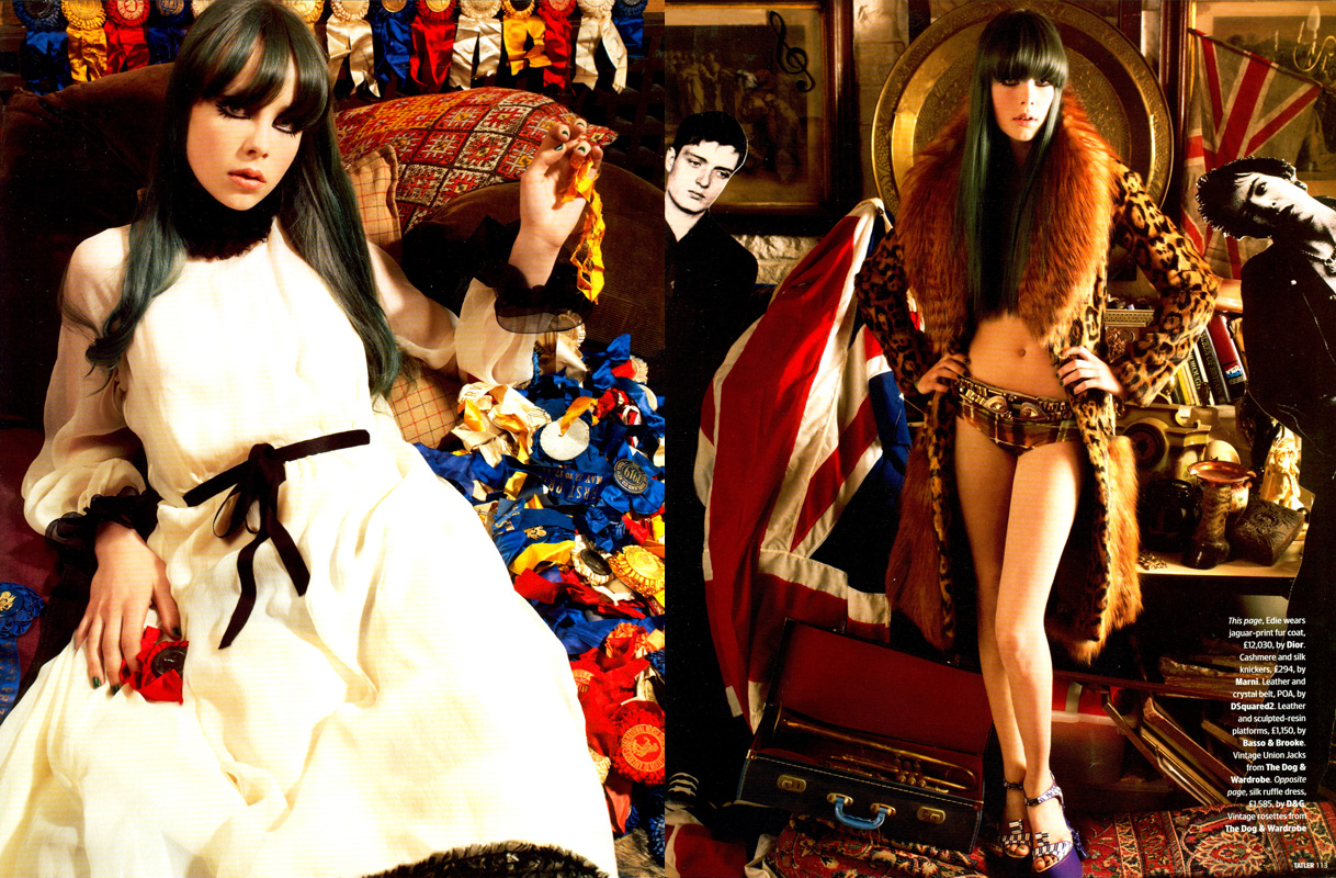Edie Campbell for Tatler